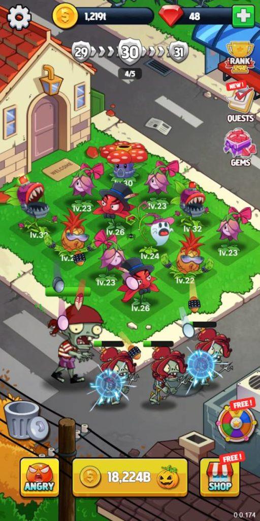 Merge Flowers vs Zombies Image 1
