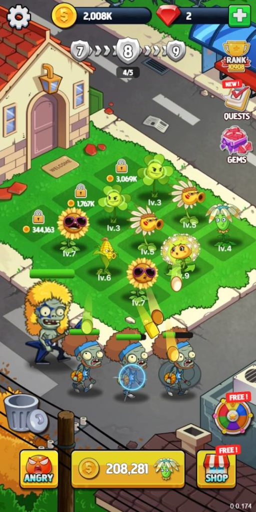 Merge Flowers vs Zombies Image 4